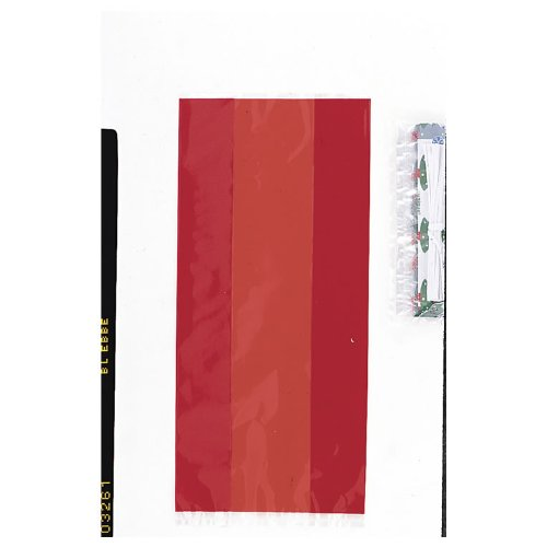 Cello & Gift Bags Party Supplies- Ruby Red 30pk