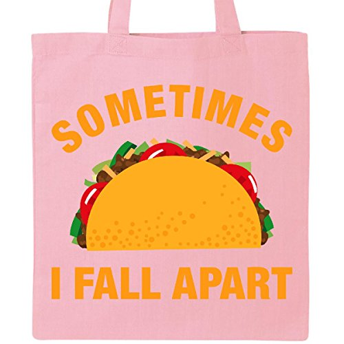 Inktastic Tacos Fall Apart Tote Bag Pink (Pink Taco Shells compare prices)