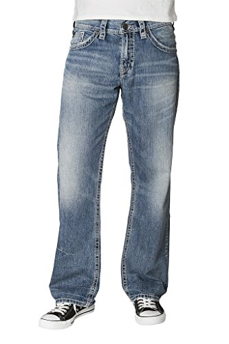 Silver Jeans Denim Mens Gordie Flap Loose Medium Wash M8456LJB180