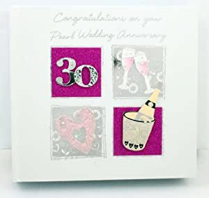GIFT FOR 30th PEARL WEDDING ANNIVERSARY PHOTO ALBUM WITH 3D DESIGN ...