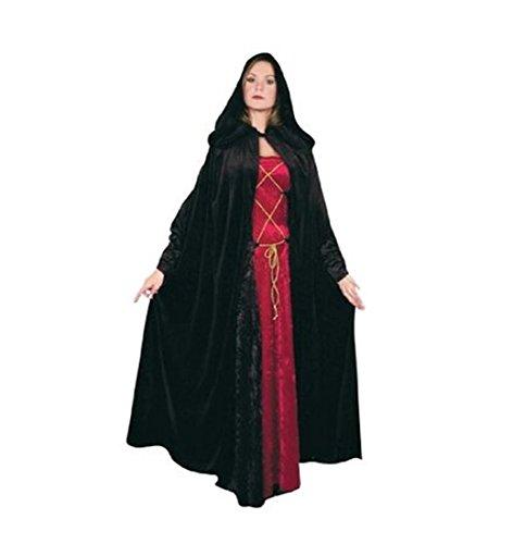 Panne Velvet Hooded Cloak