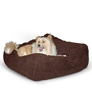 K&H Cuddle Cube Pet Bed, Medium 28-Inch by 28-Inch, Mocha