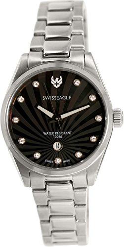 Swiss Eagle SE-6048-11 - Reloj para mujeres, correa de acero inoxidable