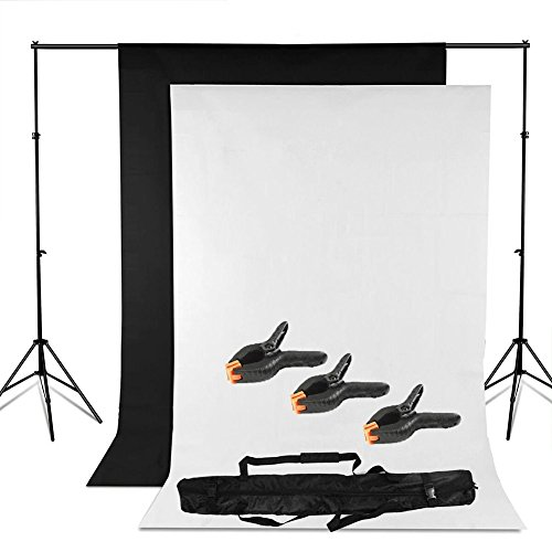 bps-adjustable-heavy-duty-backdrop-support-stand-kit-16-x-3m-black-white-backdrop-screen-background-