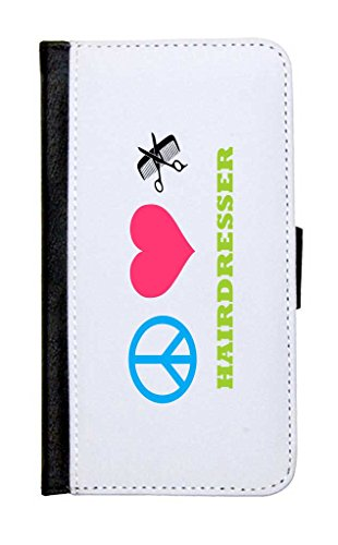 Rikki Knighttm Peace Love Hairdresser Galaxy S5 Premium Pu Leather Wallet Type Flip Case With Magnetic Flap And Wristlet For Samsung Galaxy S5 I9500 front-612882