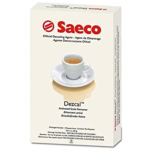 Descaler For Coffee Maker : Amazon.com: Saeco Dezcal Coffee and Espresso Maker Descaler - 3 packs: Coffee Machine And ...