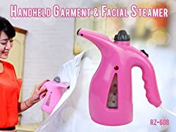 DFS's premium 2 IN 1 HANDHELD GARMENT & FACIAL STEAMER ELECTRIC ITON STEAM PORTABLE HANDY VAPOUR STEAMER (Colors may vary)