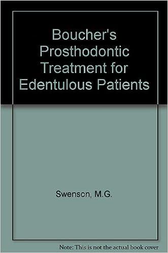 Boucher's Prosthodontic Treatment for Edentulous Patients