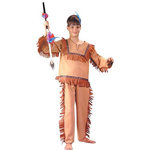 Child's Native Indian Boy Costume (Size:Large 8-10)