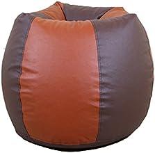Orka XL Bean Bag Cover - Brown and Tan