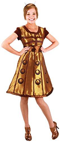 Women's Gold Doctor Who Dalek Dress