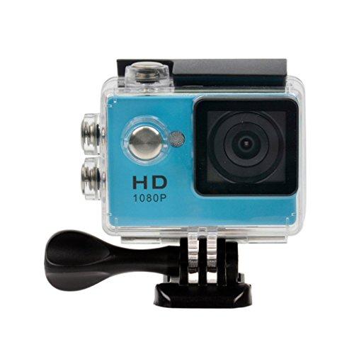 inkint Full HD 1080p Sport Caméra 120 Degré DV Objectif Sport 30m Waterproof Recorder Cam 2 Pouces LCD (Bleu)