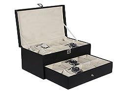 Hardcraft Black Watch box For 20 Watches 20WCH01BL