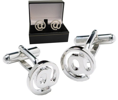 Email Cufflinks - IT @ Symbol Cufflink design