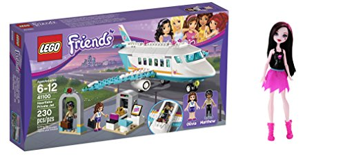 LEGO Friends Heartlake Private Jet 230 Pcs & free Gifts Ghoul Spirit Draculaura Doll (Colors may vary) Toys (Juice Bar Lego Friends compare prices)