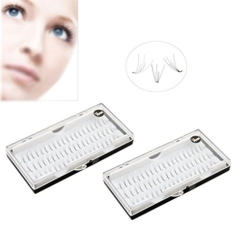 TOOGOO(R) 120 FAUX CILS EYELASHES INDIVIDUELS EXTENSION NOIR 14MM