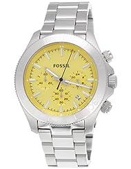 Fossil Retro Traveler Chronograph Yellow Dial Men's Watch - CH2865
