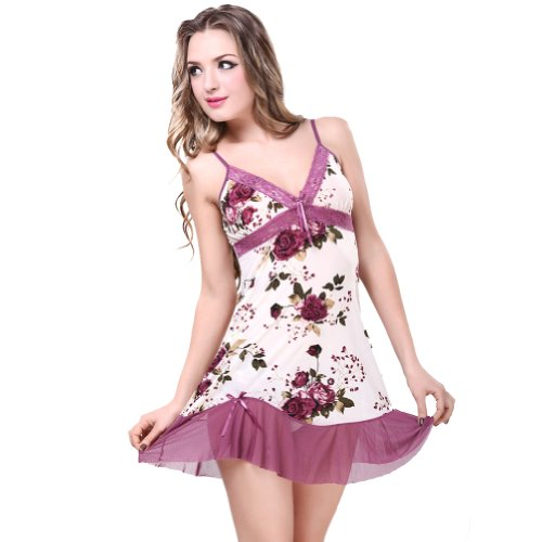 Huahuni Women's Bowknot Chemise One Size Multicoloured