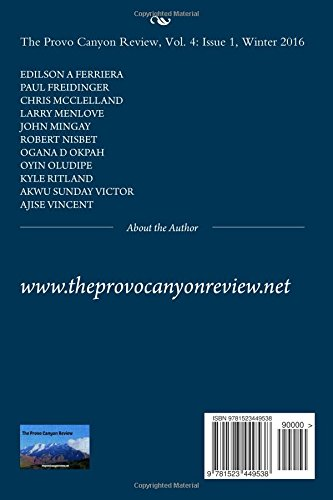 The Provo Canyon Review, Vol. 4: Issue 1, Winter 2016