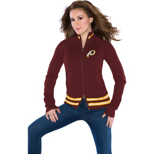 Touch by Alyssa Milano Washington Redskins Women's Sweater Mix Jacket XX Large at Amazon.com
