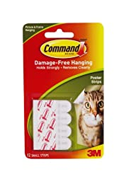 Command Poster Strips, 12-Strip, 2-pack