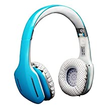AUSDOM M07 Over-ear Stereo Headphones Wireless + Wired headphones, Blue great sound