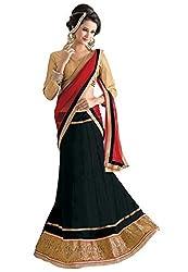 Livaaz Womens Net Lehenga Choli (Sf100480 _Brown::Black _Free Size)
