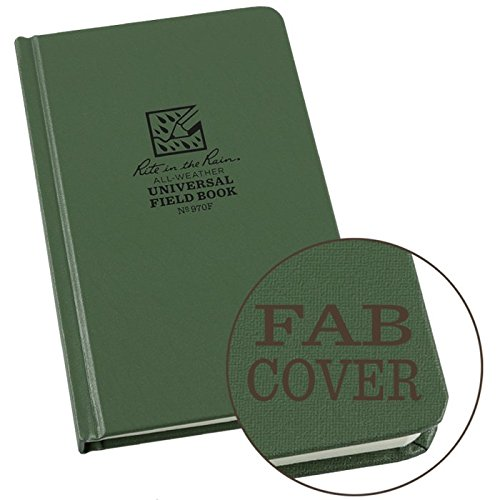 Rite in the Rain RITR970F Sewn Bound Book 80 Sheets Perforated Green 4.75x7.5 by Rite In The Rain (Writing In The Rain compare prices)