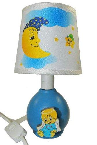 Tischlampe Lampe Stehlampe Tischleuchte Kinder Kinderzimmer Holz Baby Junge Boy 25cm hoch Nachttischlampe