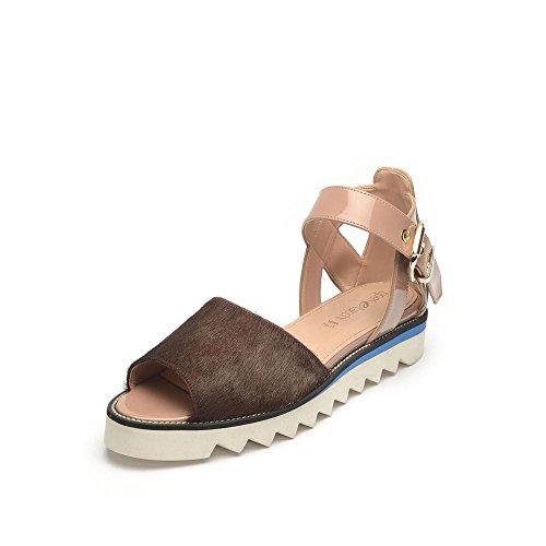 Tipe e Tacchi / sandali donna colore cavallino marrone/vernice tortora