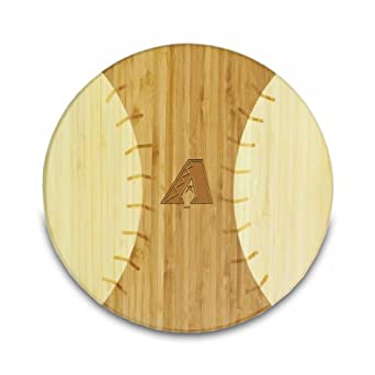 MLB Arizona Diamondbacks Homerun Bamboo Cutting Board with Team Logo, 12-Inch