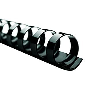 GBC CombBind Binding Spines, 0.75-Inch Spine Diameter, Black, 150 Sheet Capacity, 25 Spines (4090052)