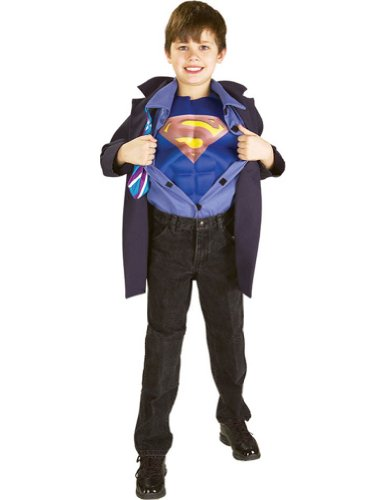 Clark Kent Superman Reverse Lg Kids Boys Costume