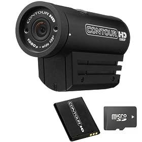ContourHD 1080p Helmet Camera + 16GB Ultra High Speed (Class 6) Memory & Xtra Battery Bundle