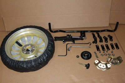 MAZDA RX-8 2004-2011 OEM YELLOW SPARE TIRE MOUNTING KIT FE01-V8-360 (E.C.A.P) (Rx8 Spare Tire compare prices)