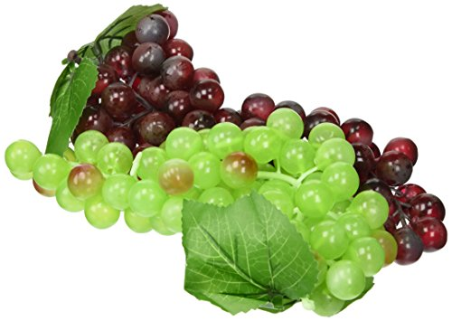 Artificial Green & Purple Grape Cluster, Set of 2 Pieces (Green Artificial Grapes compare prices)