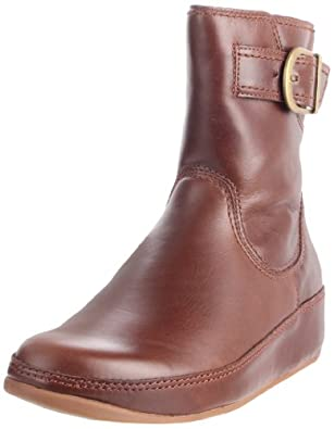 FitFlop Women's Hooper Ankle Boot,Toffee,5 M