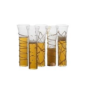 Abigails La Boheme Champagne Glasses with Gold, Set of 6