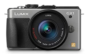 Panasonic Lumix DMC-GX1K 16 MP Micro 4/3 Mirrorless Digital Camera with 3-Inch LCD Touch Screen and 14-42mm Zoom Lens (Silver)
