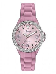 s.Oliver Damen-Armbanduhr XS Analog Silikon SO-2451-PQ