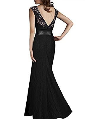 Women Casual Dresses Sleeveless Black Long Evening Party Wedding Special Occasion