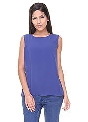 Alibi Women's Woven Top (ALWT000424A_XL_Dark Blue_XL)
