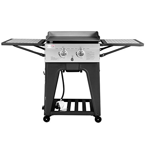 RoyalGourmet Regal 22-Inch Outdoor Propane Gas Griddle Grill 2-Burner Cooking Station (Regal Griddle compare prices)