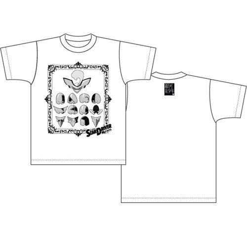STAR DRIVER 輝きのタクト Tシャツ 仮面柄 ホワイトサイズ:S