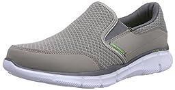 Skechers Sport Men\'s Equalizer Persistent Slip-On Sneaker, Gray, 9.5 XW US