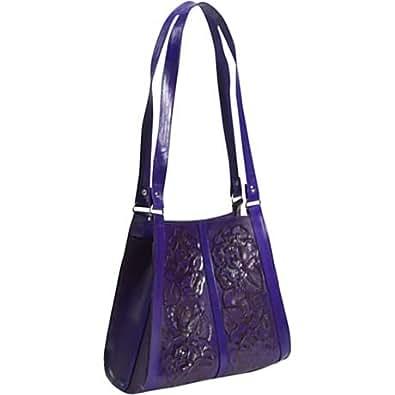 Border Leather Siesta Hand Tooled Leather Handbag