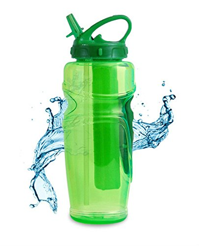 Cool Gear Solstice Water Bottle with EZ-Freeze Ice Pack 32 Ounce Green (Football Water Bottles Pack compare prices)