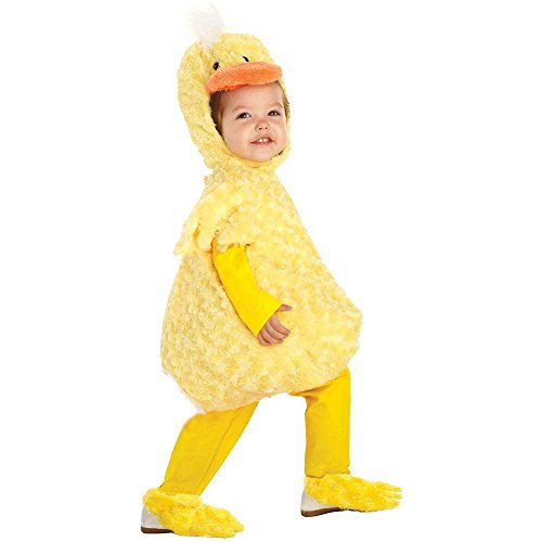 Yellow Duck Plush Belly Toddler Costume