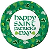 Creative Converting St. Patrick s Day Round Dinner Plates with Shamrock Party Design, 8 Per Package