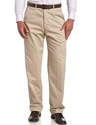 Haggar Men\'s Big-Tall Work to Weekend Hidden Expandable Waist Plain Front Pant,Khaki,46x29